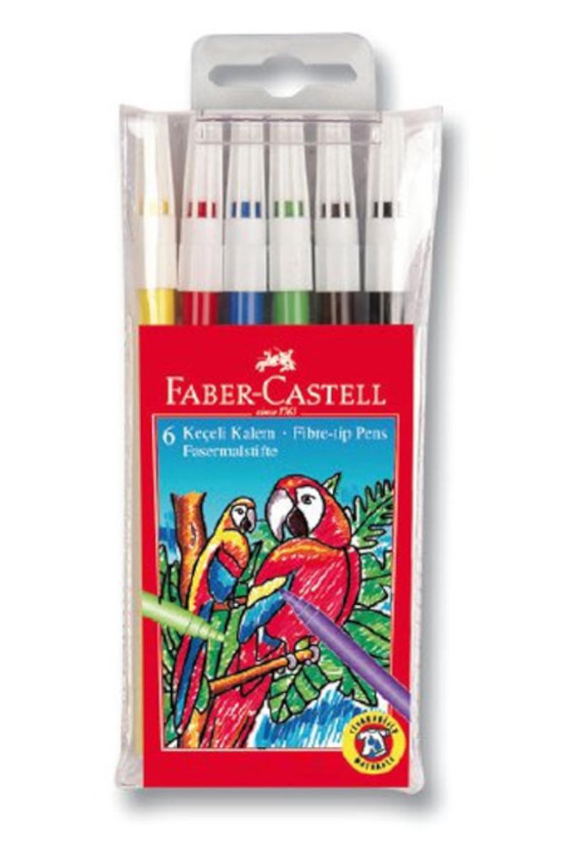 Faber Castell Yıkanabilir Keçeli Kalem 6'lı