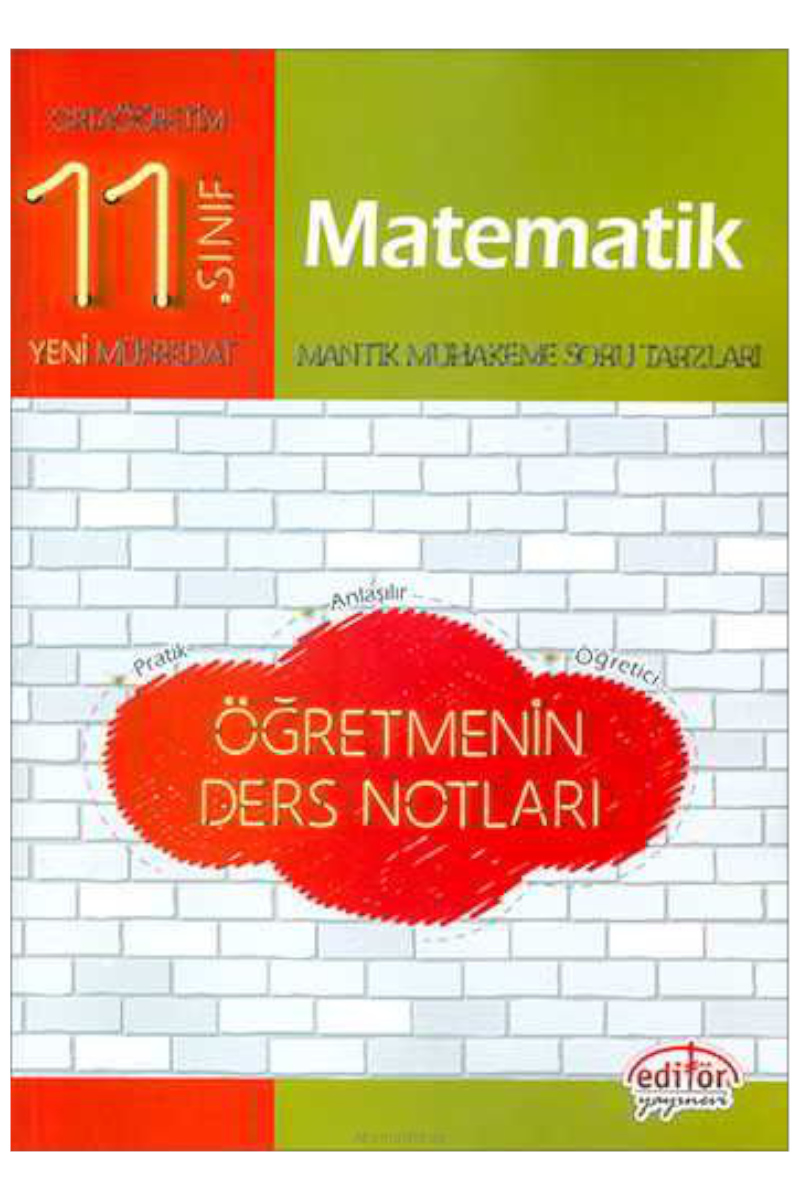 Editör Yayınları 11. Sınıf Matematik Öğretmenin Ders Notları Editör