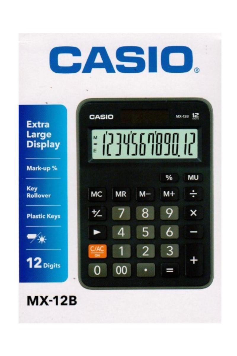 Casio Hesap Makinesi MX-12B-BK