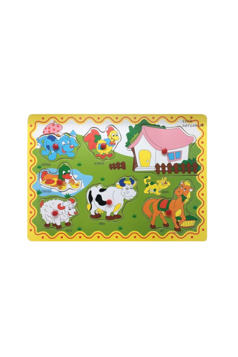 Bu-Bu Ahşap Puzzle Çiftlik Hayvanları