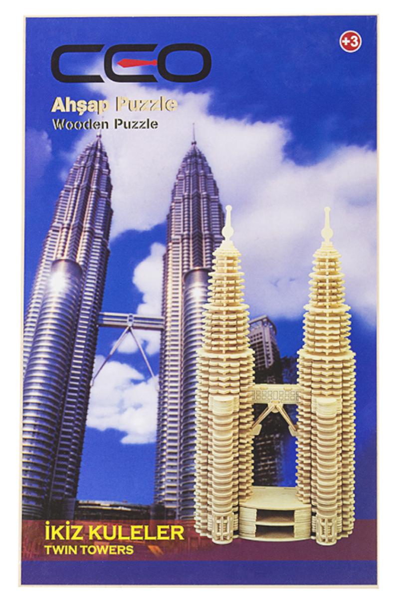 Ceo 3D Ahşap Puzzle İkiz Kuleler