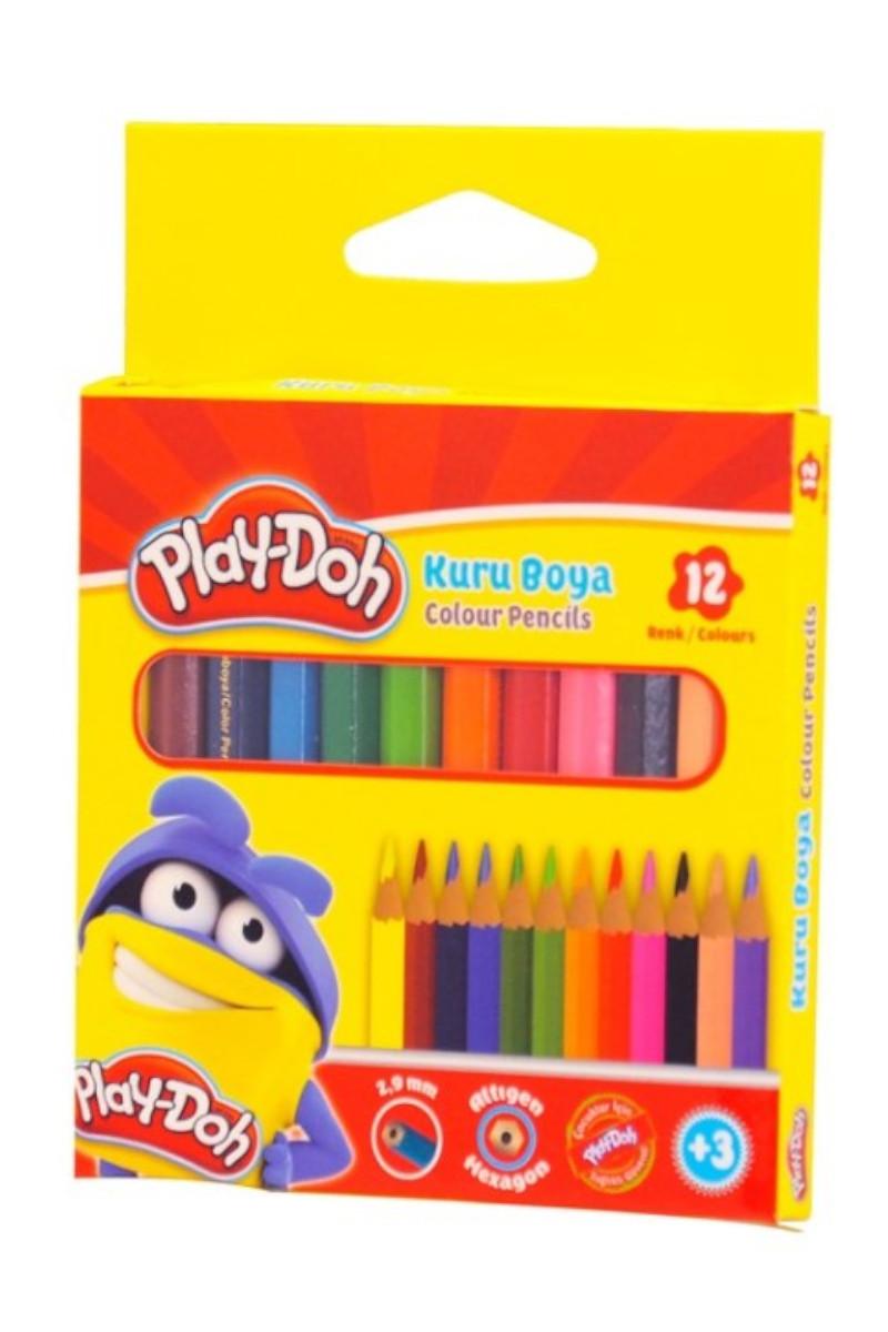 Play-Doh Kuru Boya Kalemi Yarım Boy 12 Renk Play-Ku002
