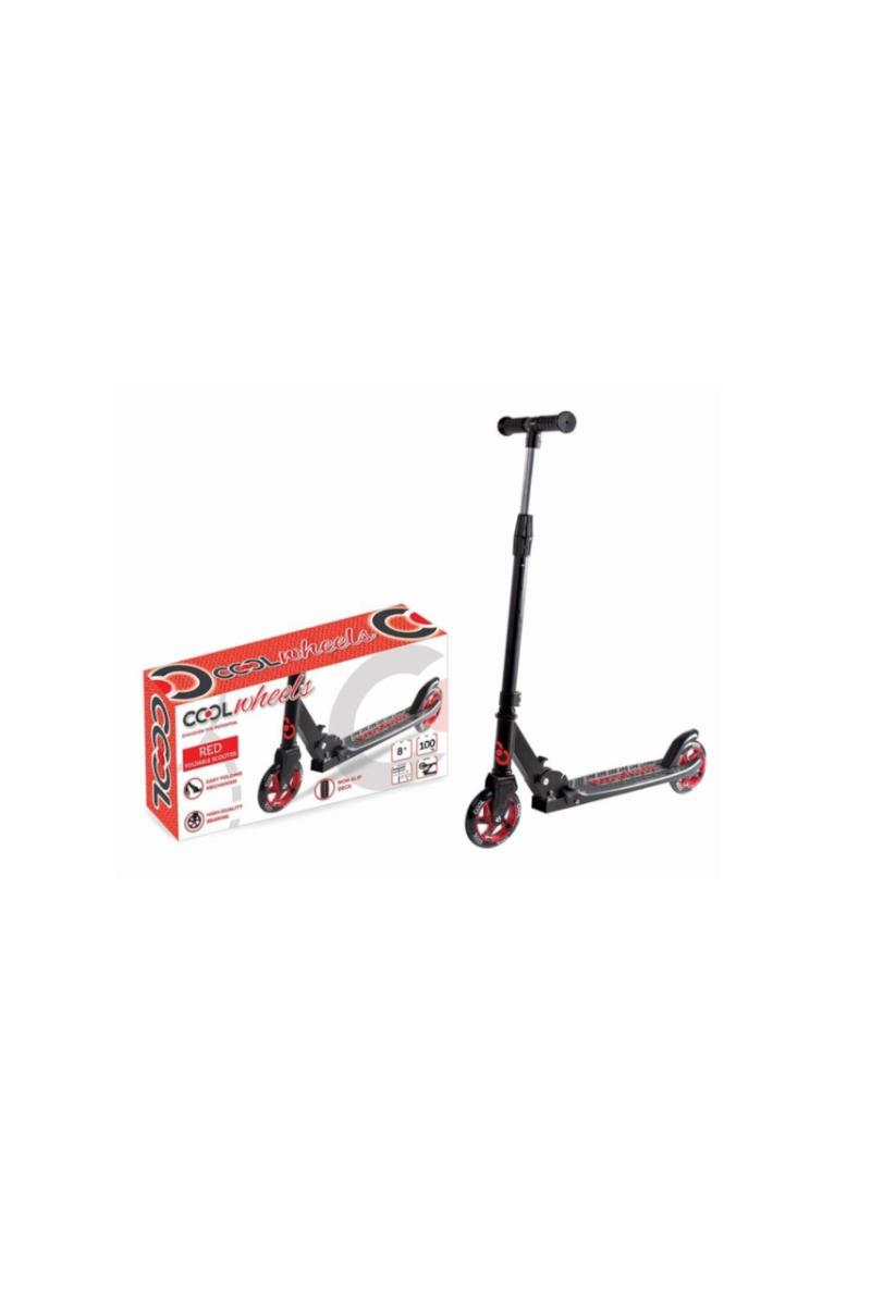 Cool Wheels 8 + Katlanır Scooter Kırmızı