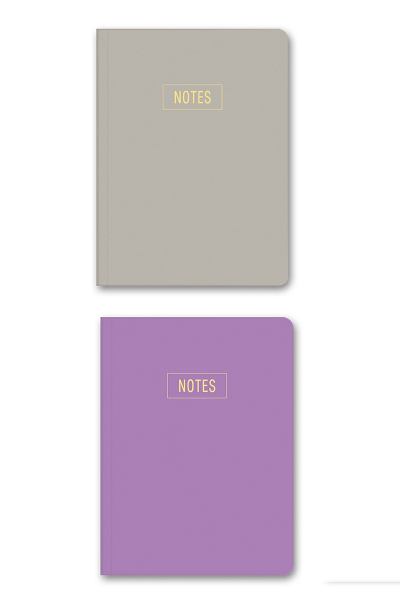 Le Color Notes Mor/Kum Çizgili Defter 14x20 128 Sayfa