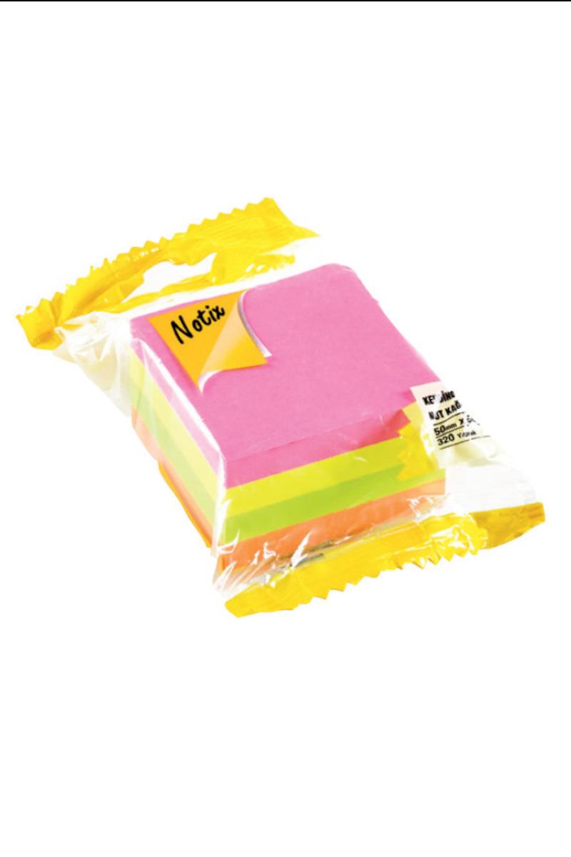 Notix 4 Renk Mini Küp Yapışkanlı Not Kağıdı
