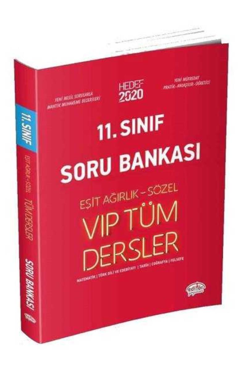 Editör Yayınları 11. Sınıf VIP Tüm Dersler Eşit Ağırlık Sözel Soru Bankası Editör