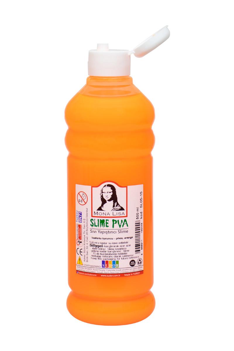 Mona Lisa Slime Sıvı Yapıştırıcı 500 Ml. Fos. Turuncu