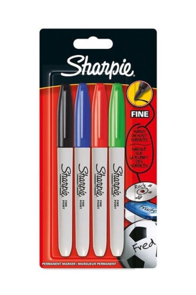 Sharpie Fine Permanent Markör Standart Renkler 4'lü
