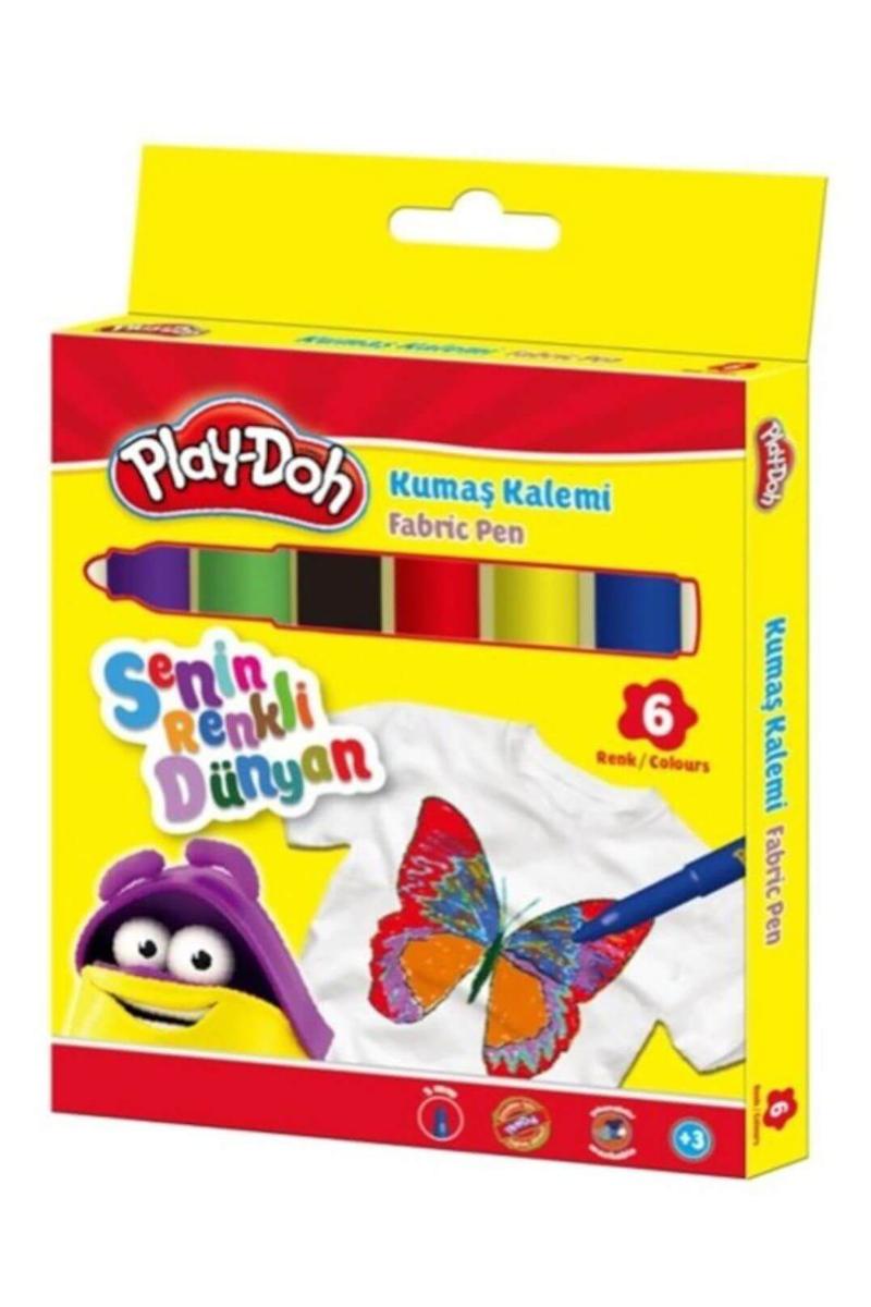 Play-Doh Kumaş Kalemi 6 Renk