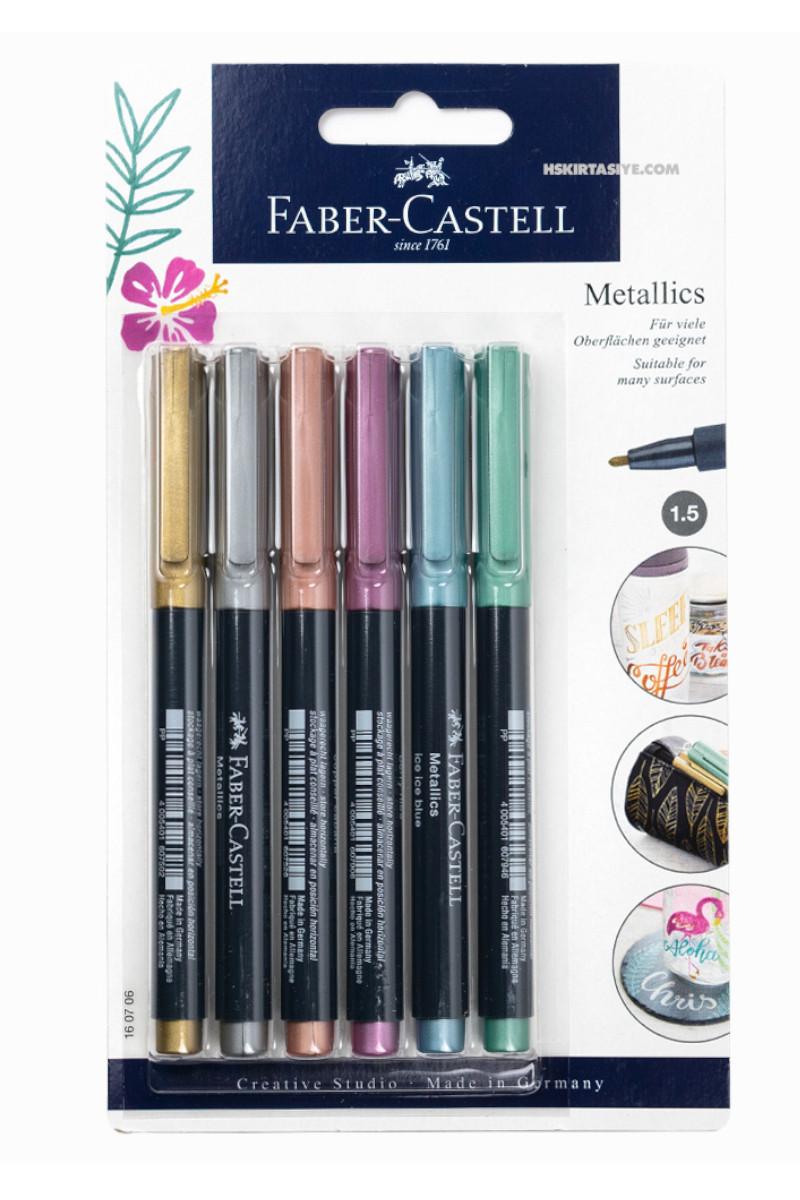 Faber Castell Markör Metalik Karışık Renk 6'lı