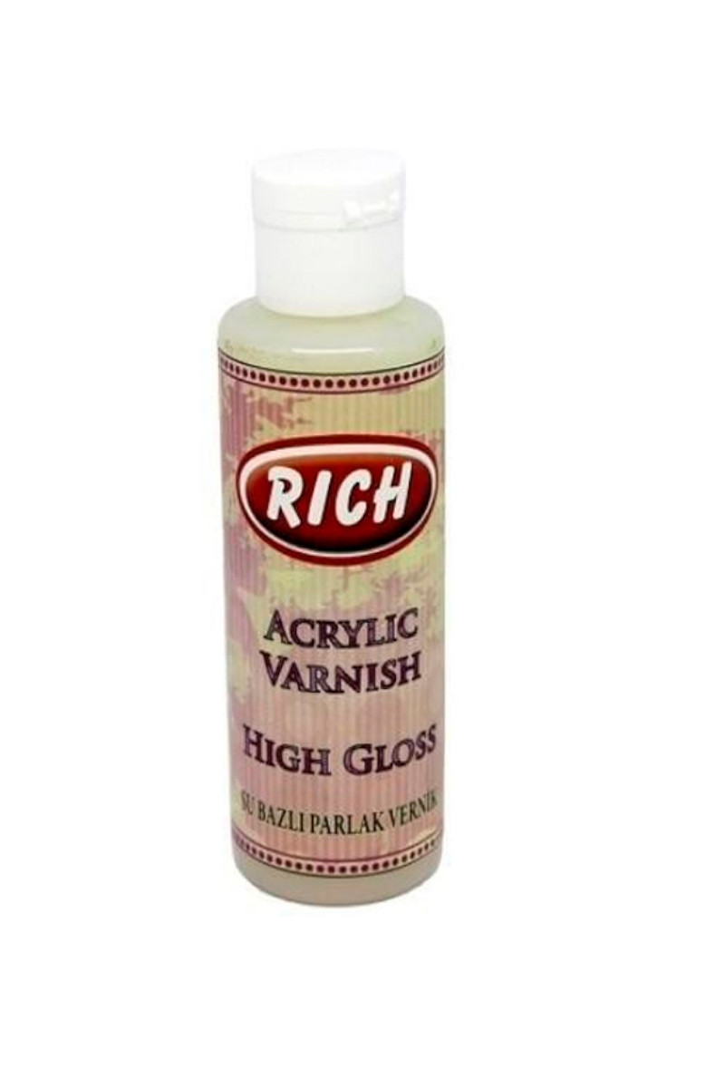 Rich High Gloss Su Bazlı Vernik Parlak 120cc