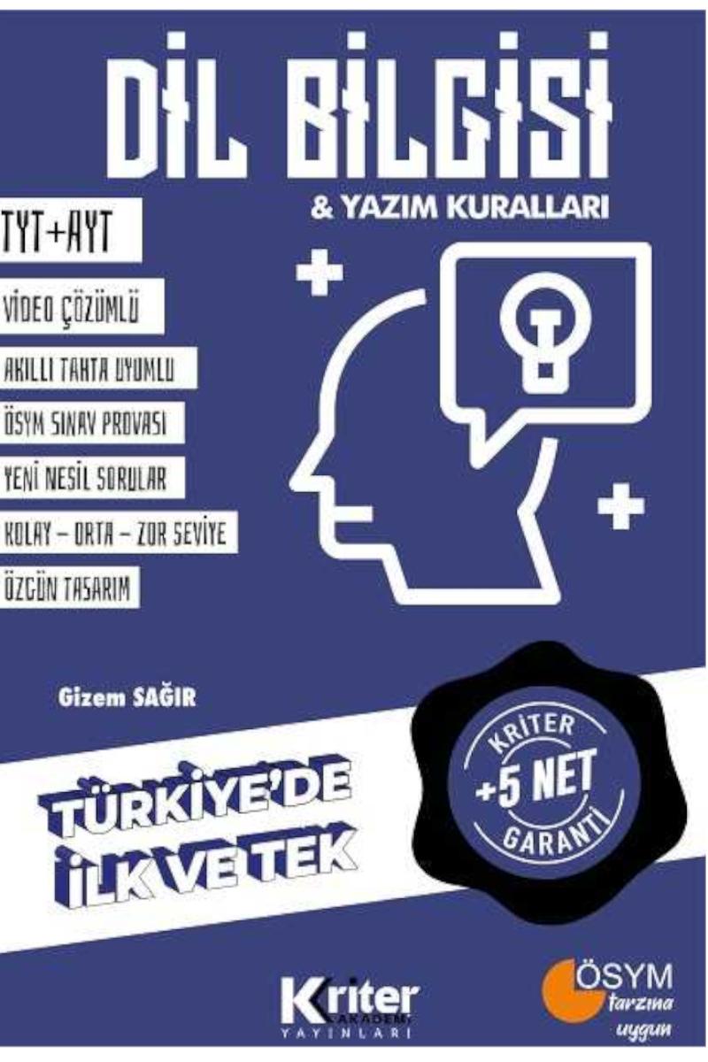 Kriter Yayınları Dilbilgisi 5 Net
