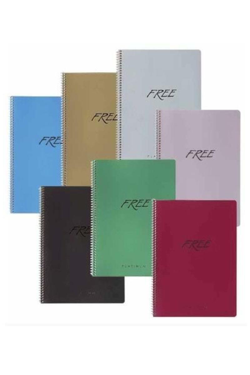 Keskin Color Free Platinum Defter A5 80 Yaprak Çizgili
