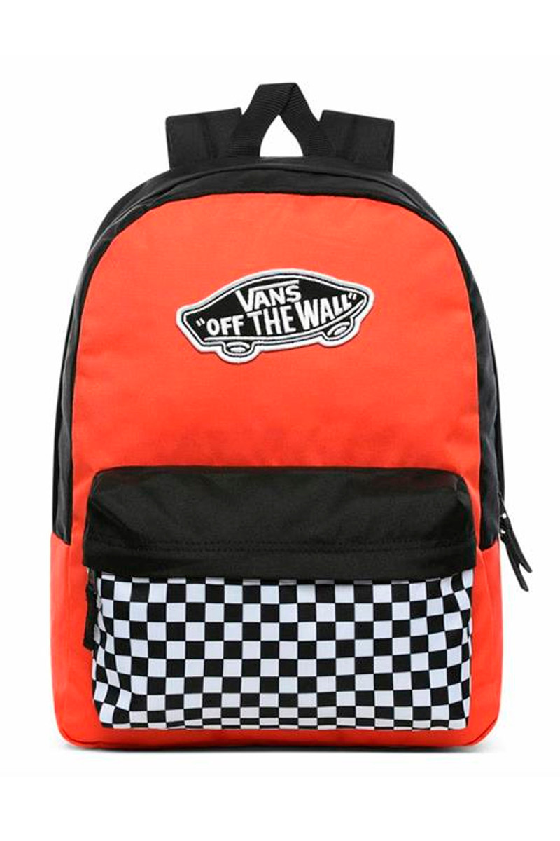Vans Realm Backpack Paprika Checkerboard Okul Sırt Çantası