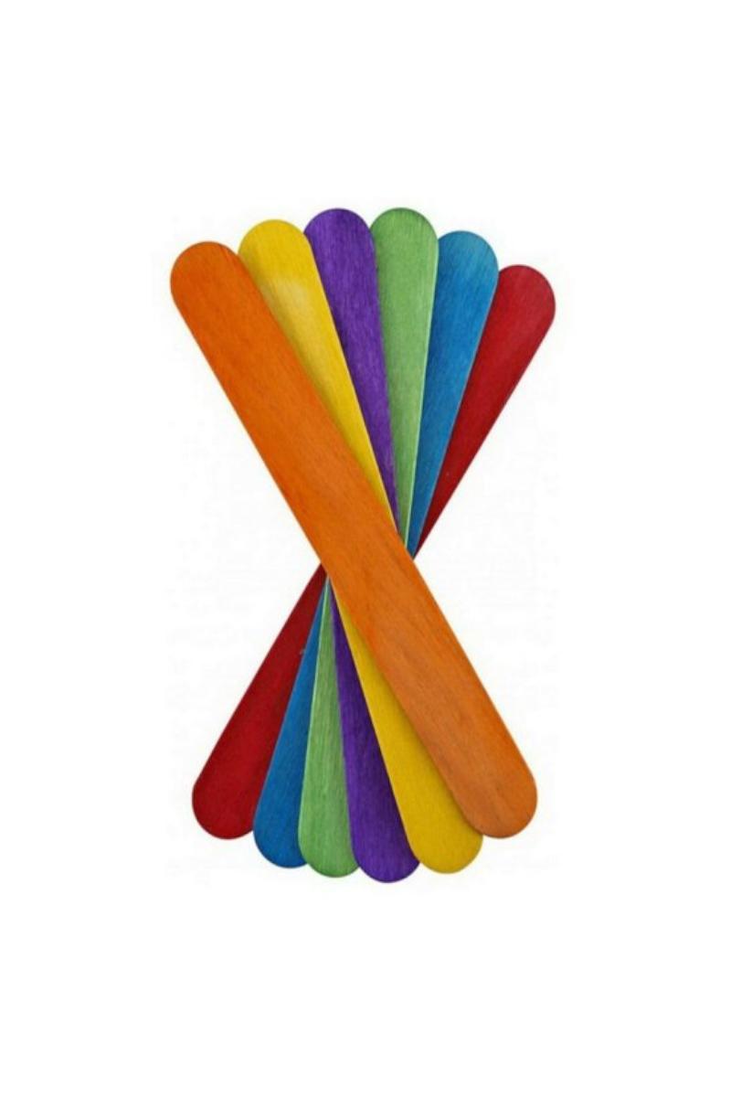 Ahşap Aktivite Çubuğu Büyük Renkli 50'li 5 Renk