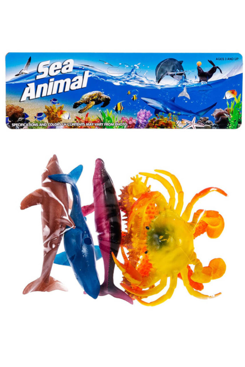 Poşetli 6'lı Deniz Hayvanları
