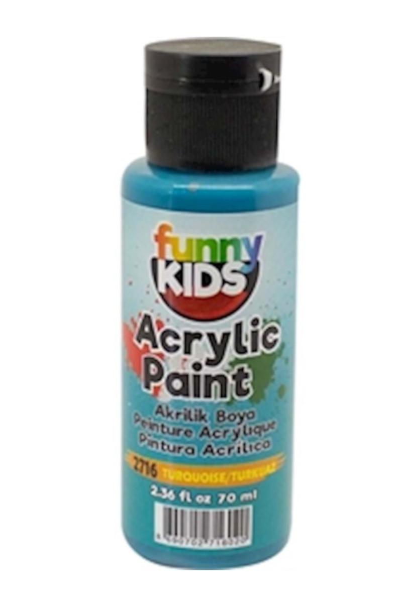 Funny Kids Akrilik Boya 070cc 2716 Turkuaz
