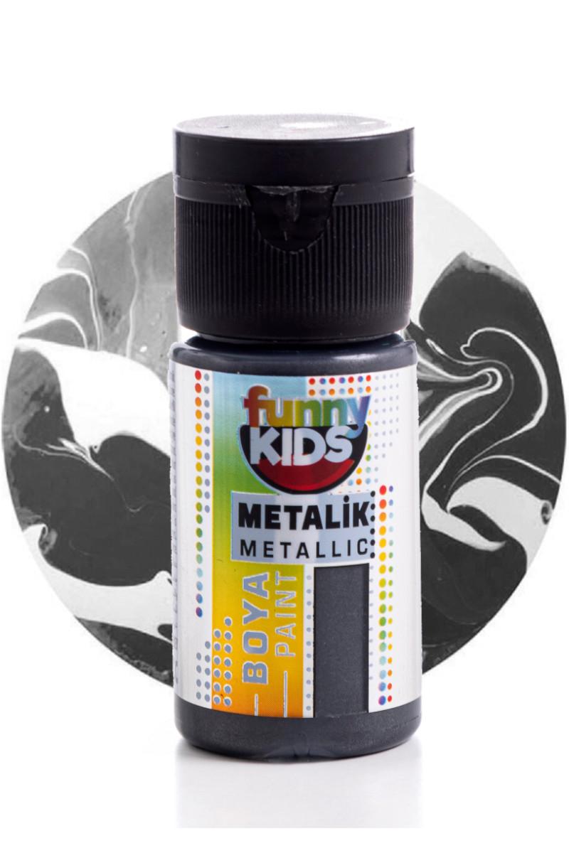 Funny Kids Metalik Boya 020cc 2332 Siyah