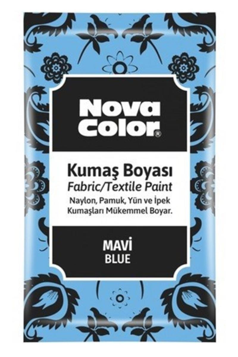 Nova Color Kumaş Boyası Toz 12gr Mavi