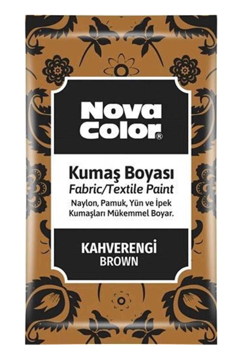 Nova Color Kumaş Boyası Toz 12gr Kahve
