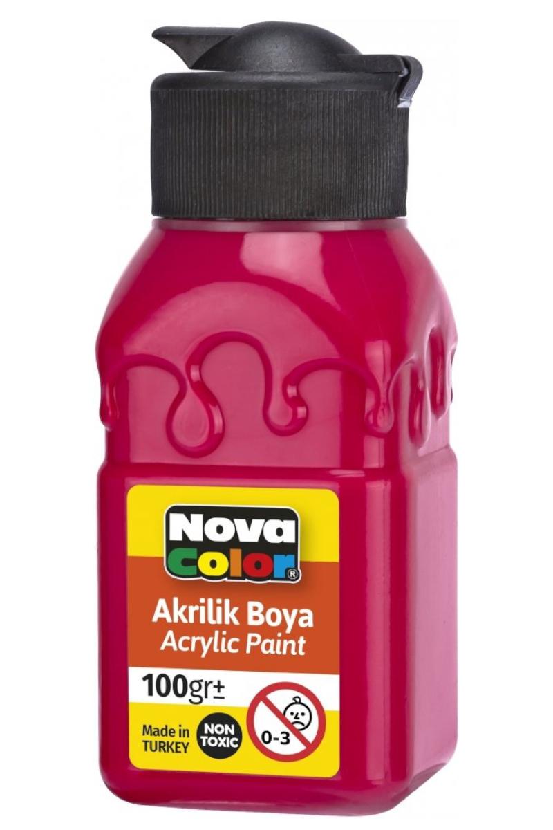 Nova Color Akrilik Boya Şişe 100gr Kırmızı