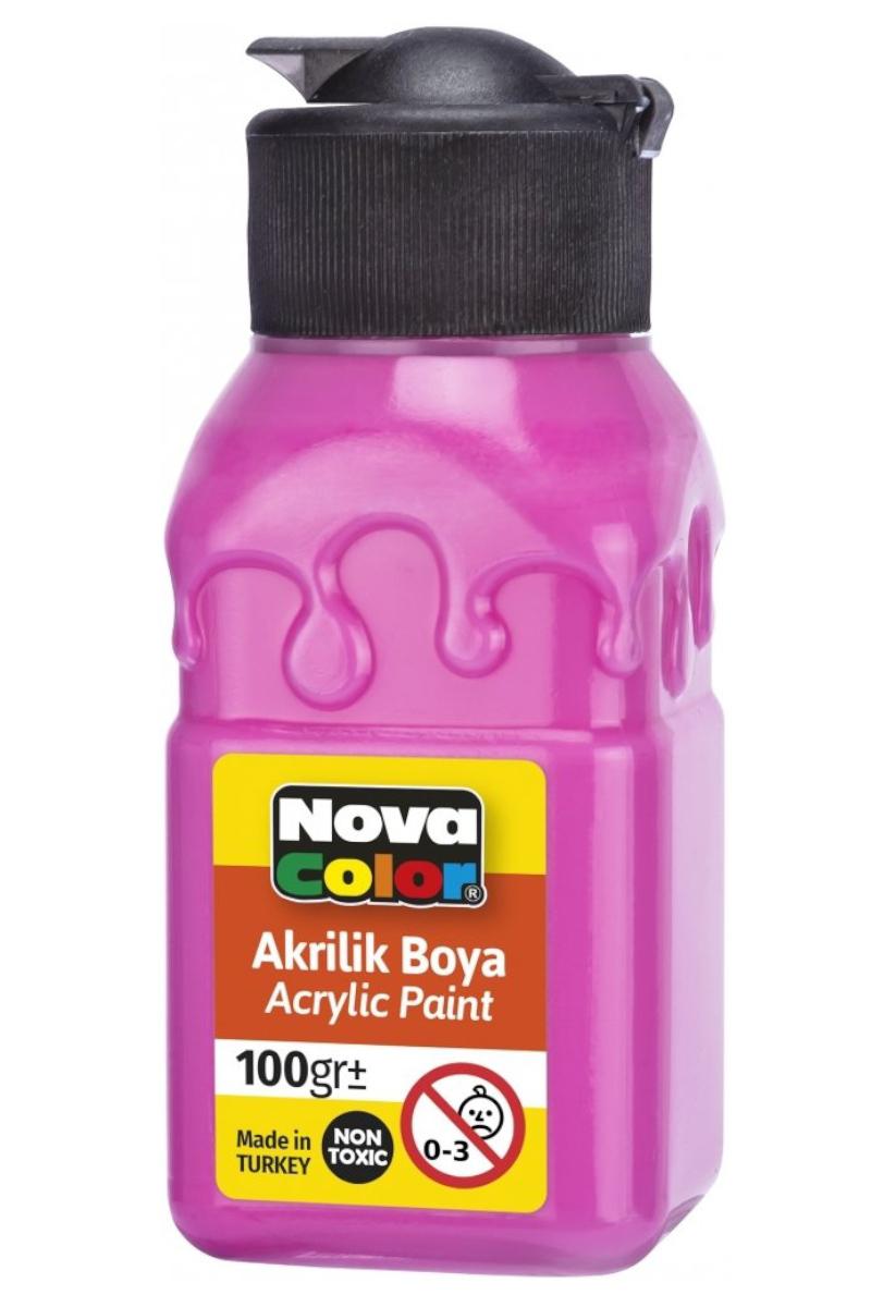Nova Color Akrilik Boya Şişe 100gr Pembe