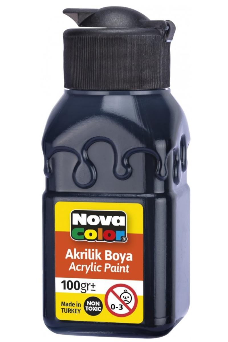 Nova Color Akrilik Boya Şişe 100gr Siyah