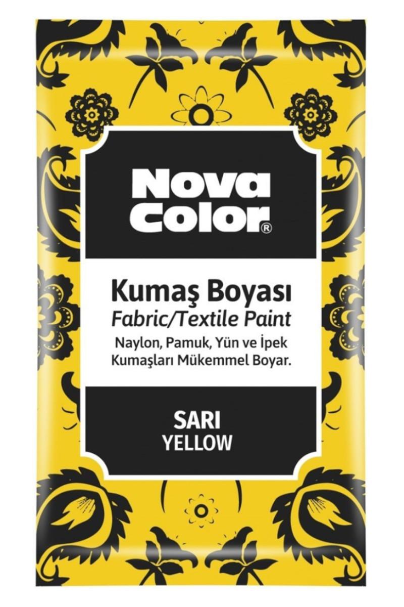 Nova Color Kumaş Boyası Toz Sarı 12gr