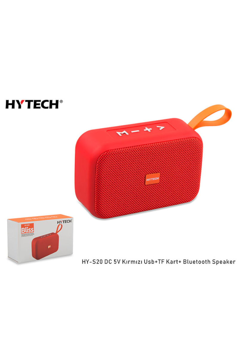 HYTECH Bluetooth Speaker Kırmızı USB+SD