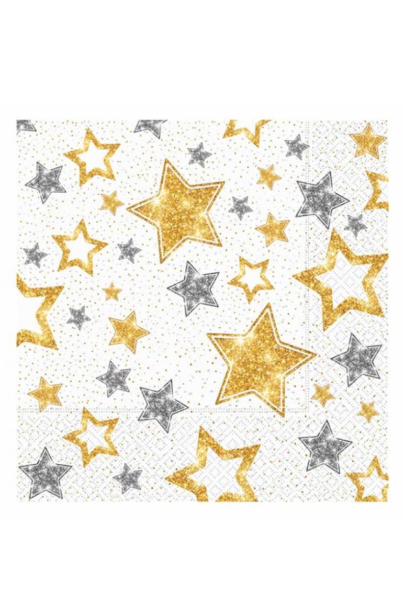 Peçete 20'li Yıldızlar Beyaz