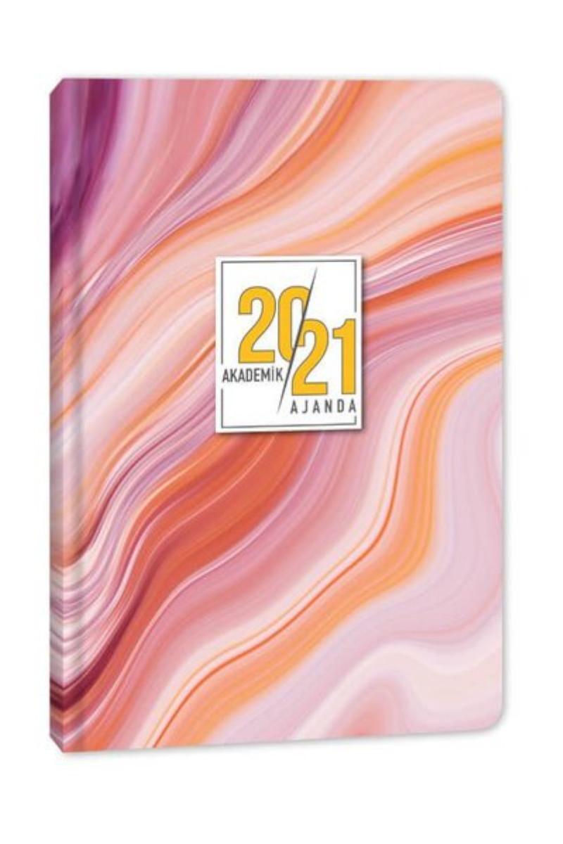 Keskin Color Ciltli Akademik Ajanda - Pink Marble