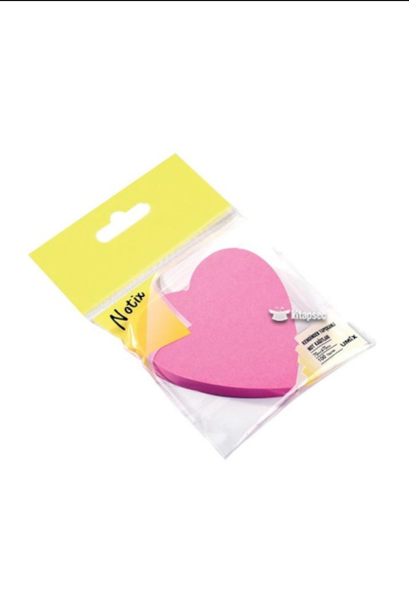 Notix Neon Kalp Yapışkanlı Not Kağıdı