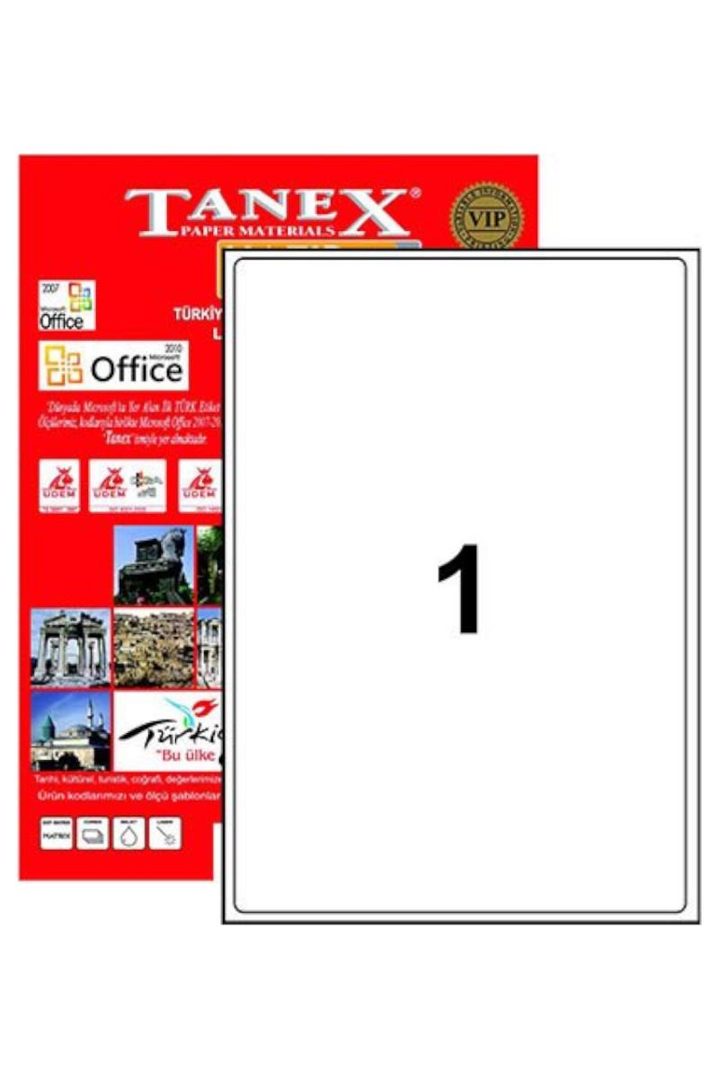 Tanex TW-2000 210mmx297mm Etiket 100 Tabaka