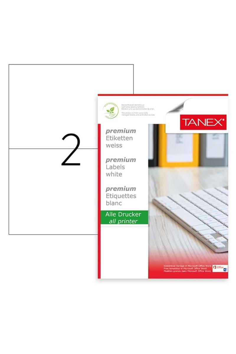 Tanex TW-2102 210mmx148,5mm Lazer Etiket  100 Tabaka