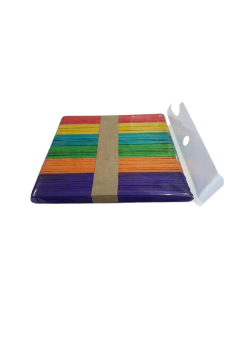 Colorbank Ahşap Aktivite Çubuğu Küçük Renkli 50'li