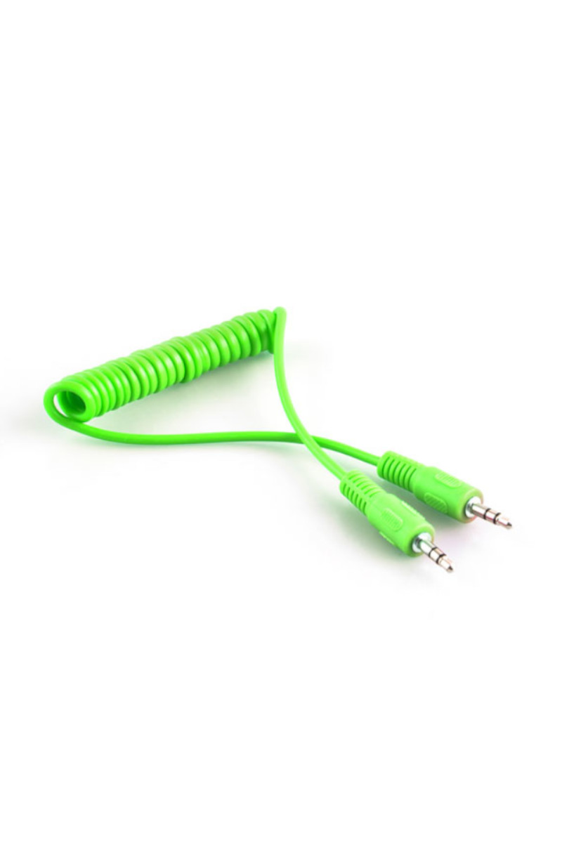 S-link SL-SP4 1m Stereo M/M Yeşil Spiral Ses Kablosu