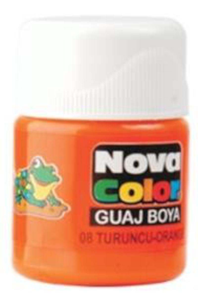 Nova Color Guaj Boya Şişe Turuncu