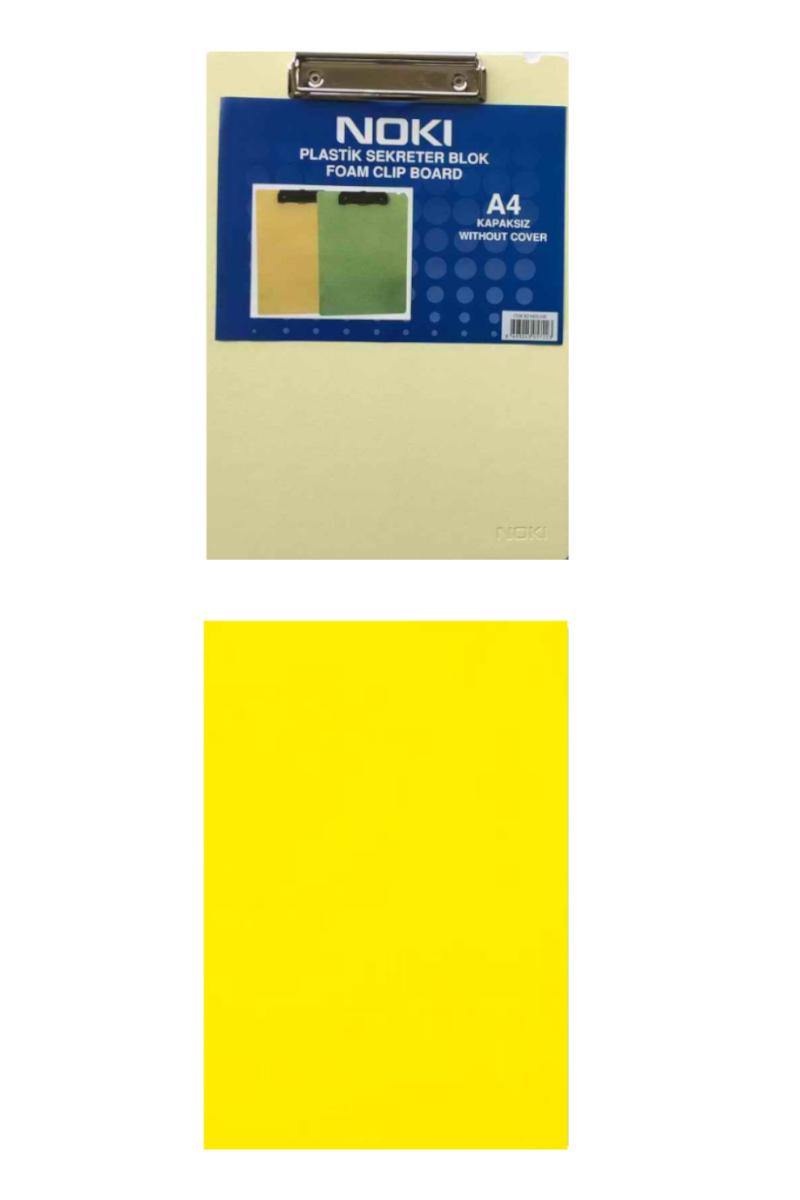 Noki Plastik Kapaksız Sekreterlik Blok A4 Sarı