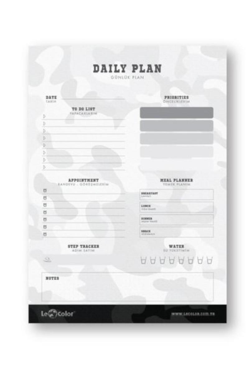 Le Color Camouflage A5 Günlük Planer