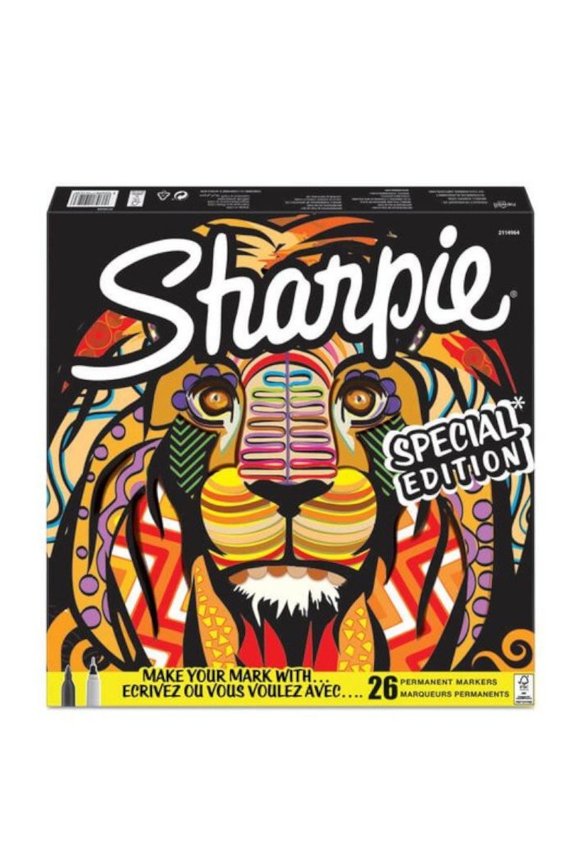 Sharpie Fine Permanent Markör 26'lı Karışık Kutu Aslan
