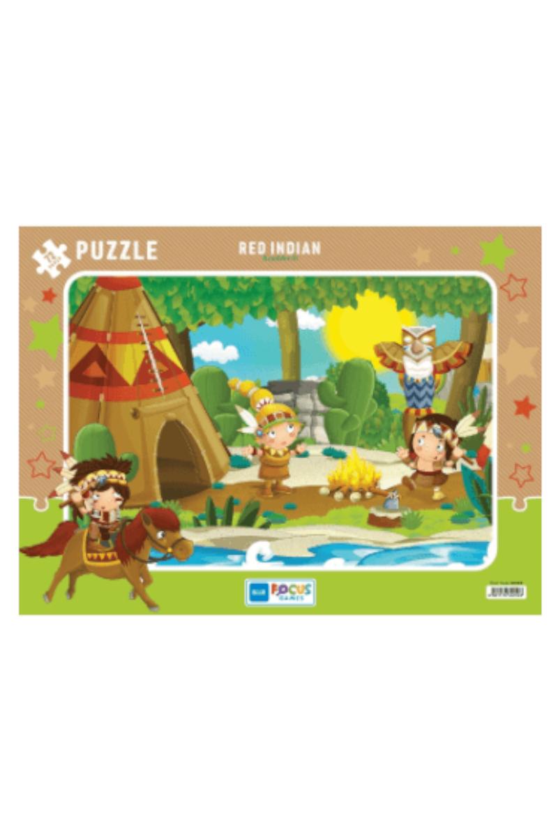 Blue Focus 72 Pcs Kızılderili Puzzle