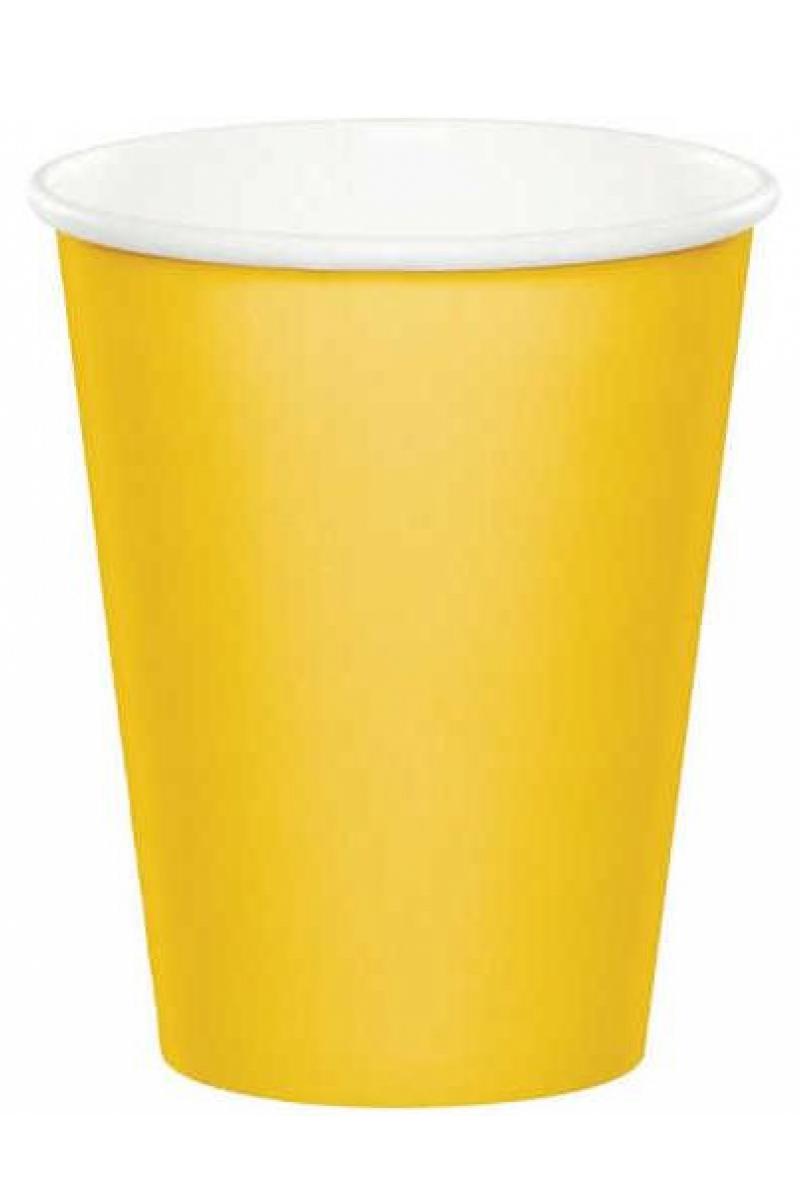 Sarı Pastel Bardak 8'li