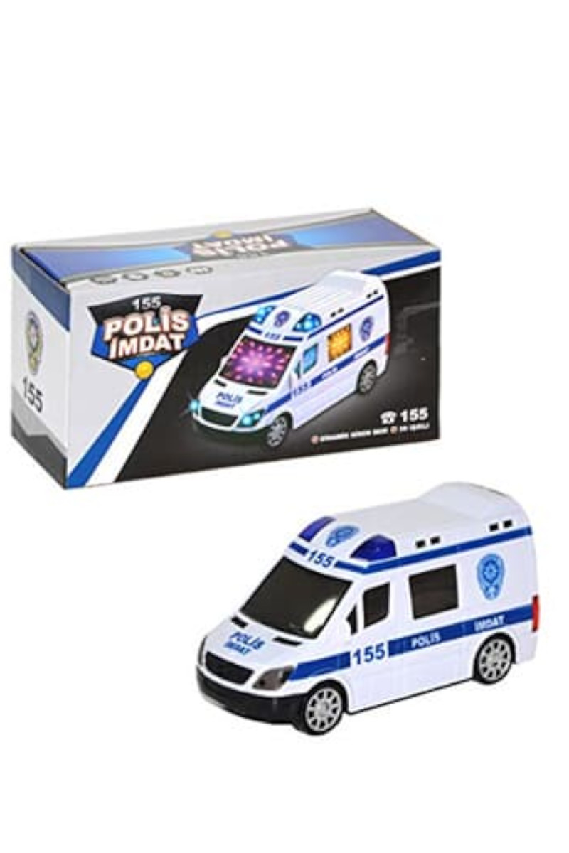Pilli Işıklı Polis Arabası