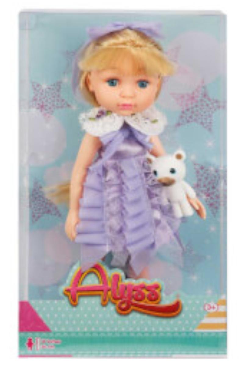Alyss Elbiseli Ayıcıklı Bebek