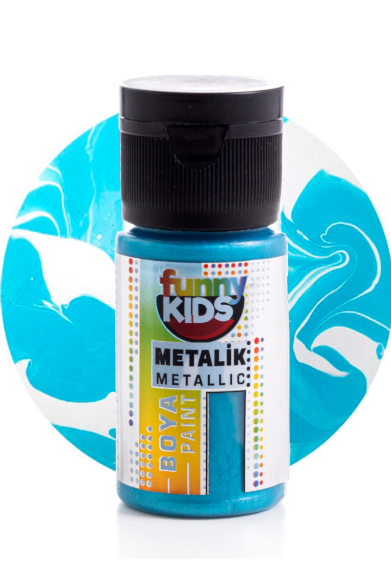 Funny Kids Metalik Boya 020cc 2324 Turkuaz