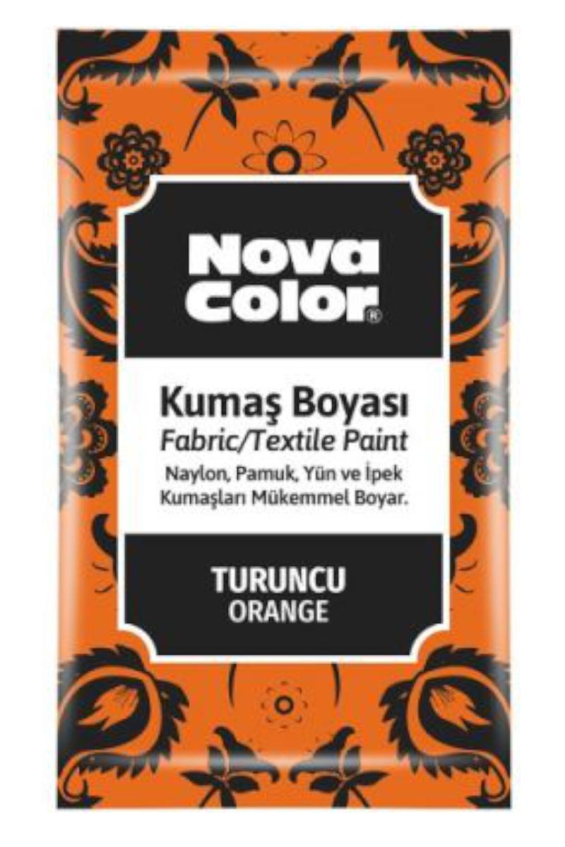Nova Color Kumaş Boyası Toz 12gr Turuncu