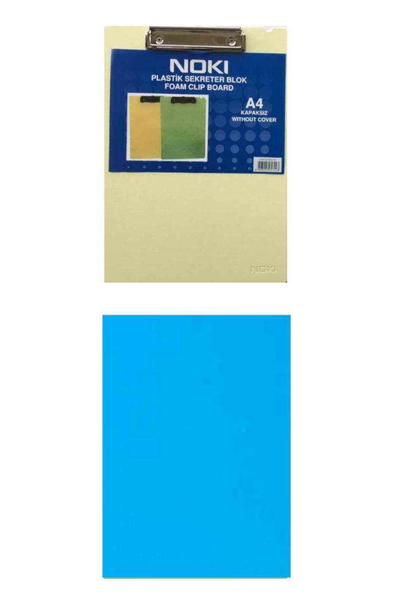 Noki Plastik Kapaksız Sekreterlik Blok A4 Mavi