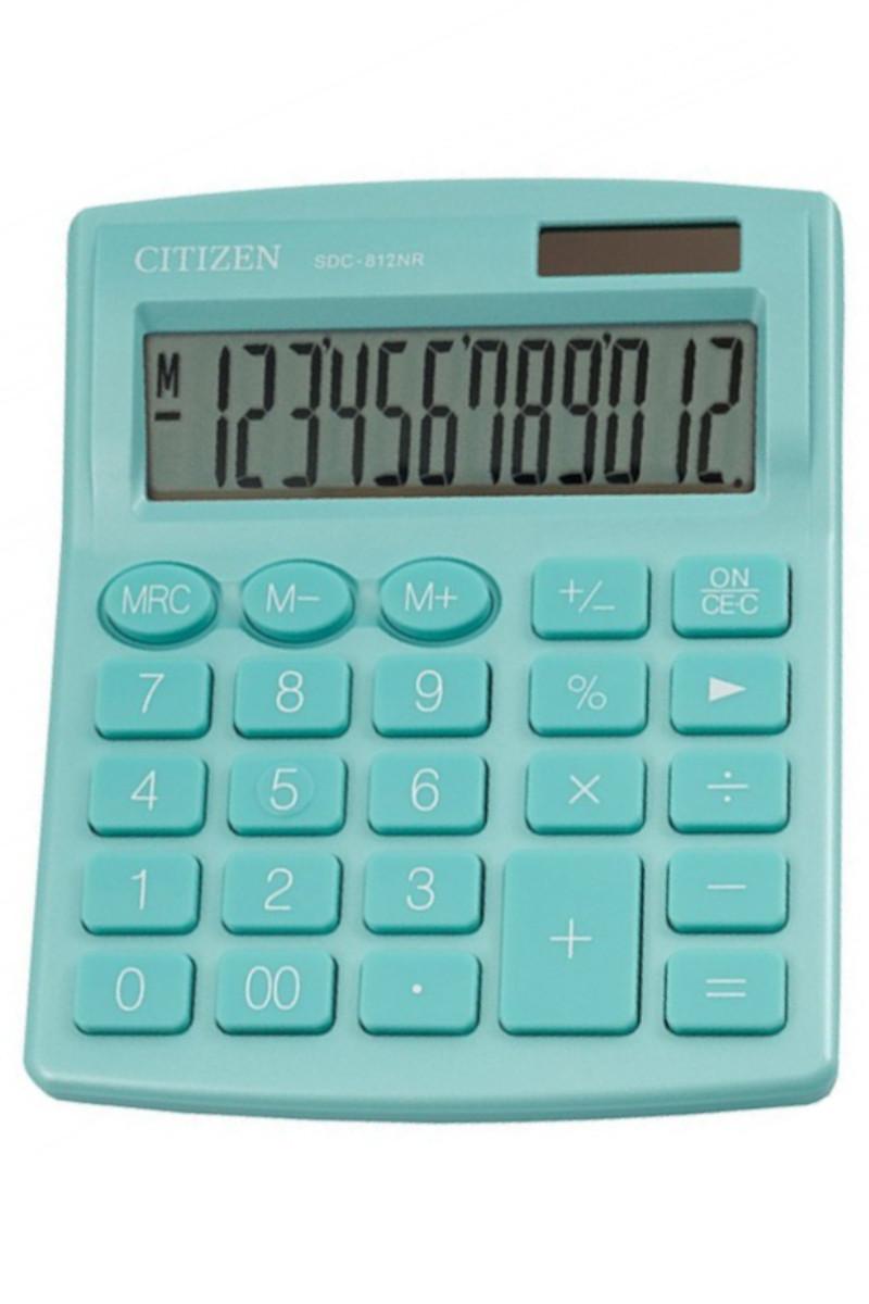 Citizen Hesap Makinesi Yeşil SDC-812NR