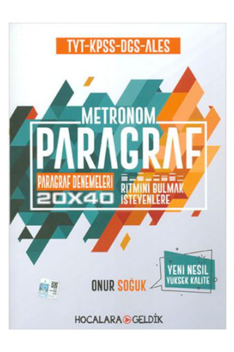 TYT KPSS DGS ALES Paragraf Metronom 20x40 Paragraf Denemeleri Hocalara Geldik