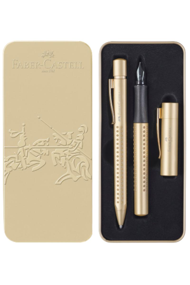 Faber Castell Grip Dolma Ve Tükenmez Kalem Set Altın